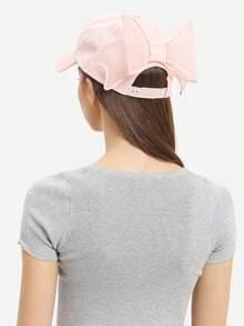 Bow-Knot Embellished Baseball Hat - Pink