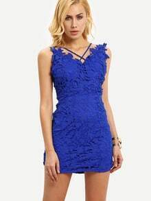 Crisscross Lace Cami Dress