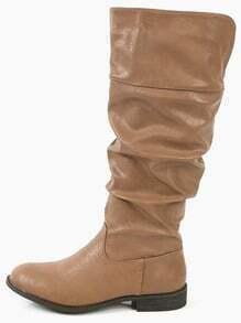 Wild Diva Lounge Oksana-59 Almond Toe Boots TAUPE