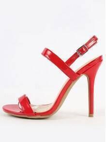 Wild Diva Lounge Adele-172 Slingback Heels RED