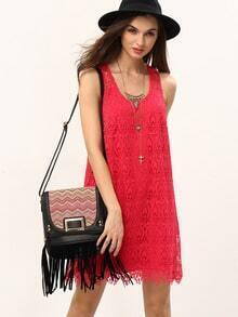 Racerback Lace Shift Tank Dress