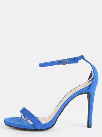 Open Toe Ankle Strap Stiletto Heels SAPPHIRE