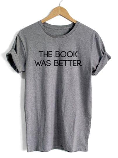 Letter Print Slub T-shirt
