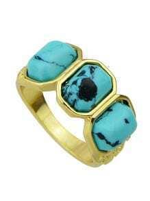 Blue Turquoise Big Ring