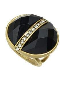 Black Gemstone Big Stone Ring