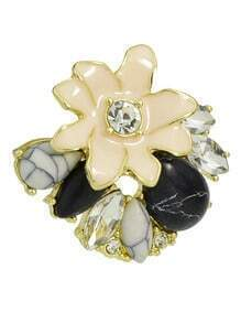 Rhinestone Flower Shape Ring