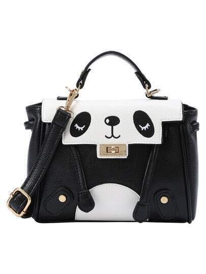 Black and White Panda Satchel Bag