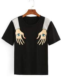 Abstract Hand Print T-shirt