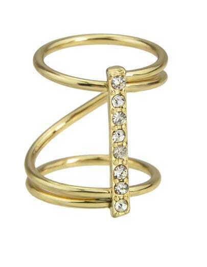 Gold Plating Round Shape Ring