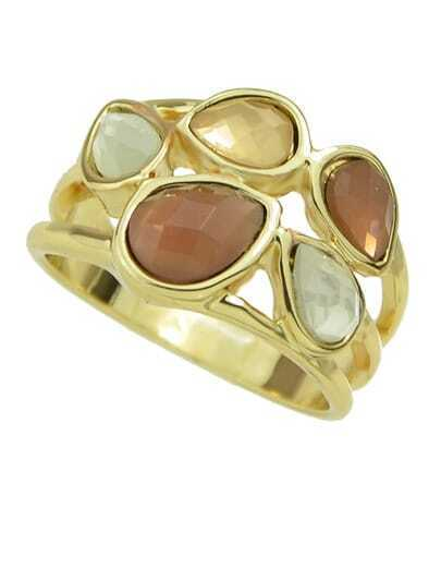 Gold Plated Rhinestone Ring