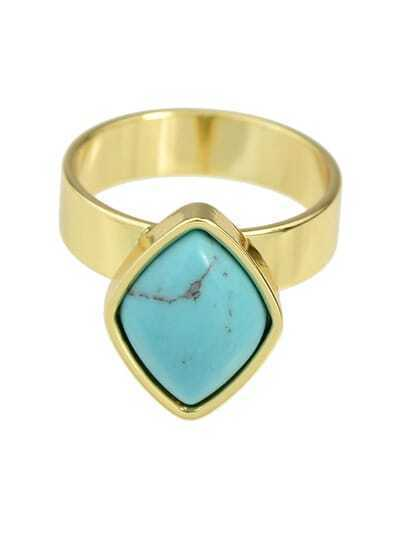 Blue Turquoise Ring for Women