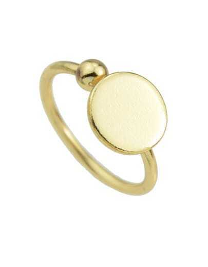 Gold Plated Round Shaped Ring