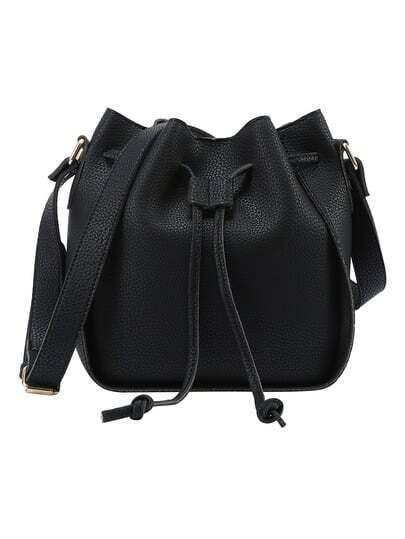Embossed Drawstring Bucket Bag