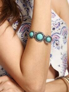 Turquoise Inlaid Ethnic Bracelet