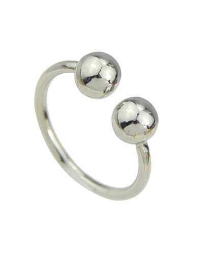 Silver Women Metal Cuff Ring