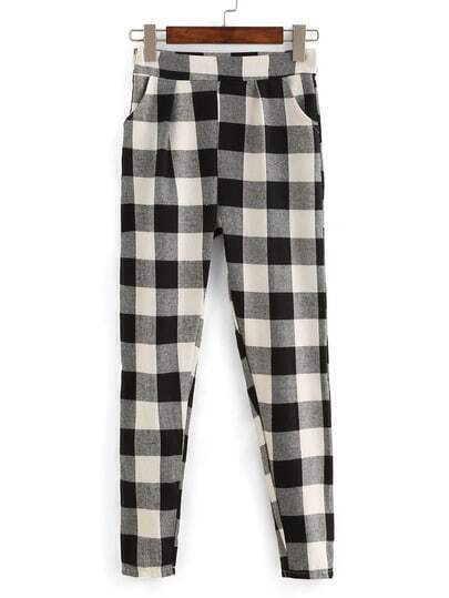 Plaid Pant With Pockets