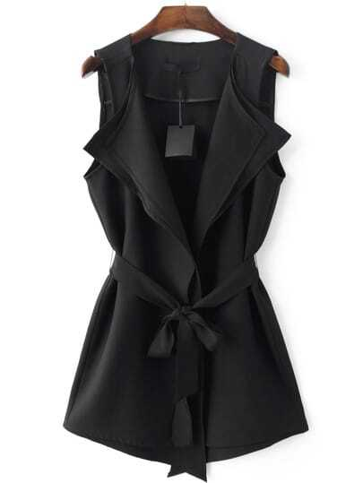 Gilet coulisse in vita - Nero