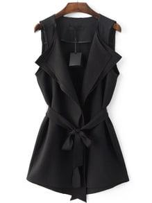 Tie-Waist Vest Outerwear
