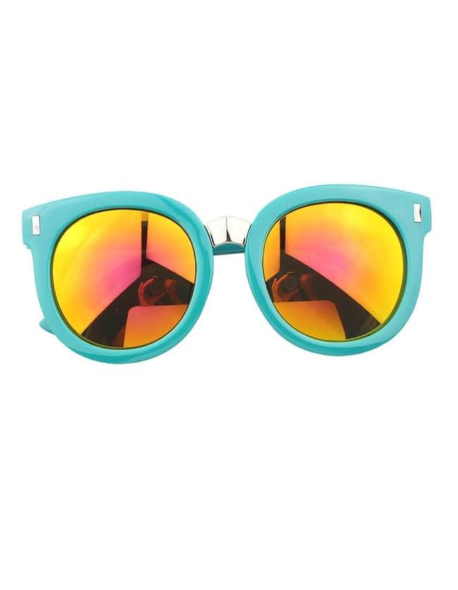 Green Round Large Sunglasses