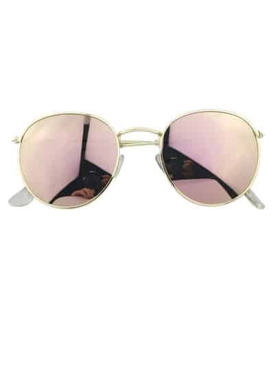 Mirrored Metal Frame Sunglasses