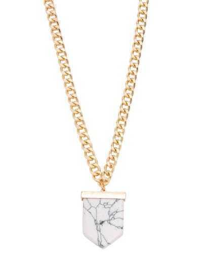 White Turquoise Minimalist Pendant Necklace