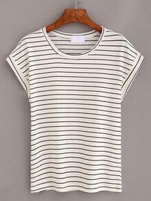 Black Striped Short Sleeve T-shirt