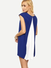 Multicolor Cap Sleeve Shift Dress