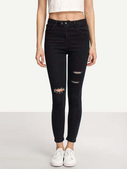 Ripped Black Skinny Jeans