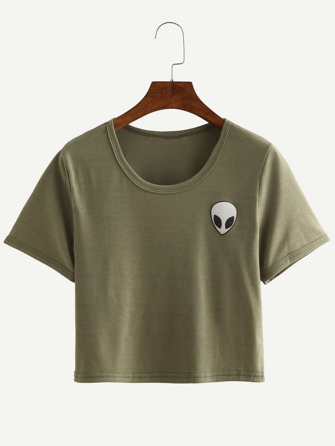 Image of Alien Print Crop T-shirt