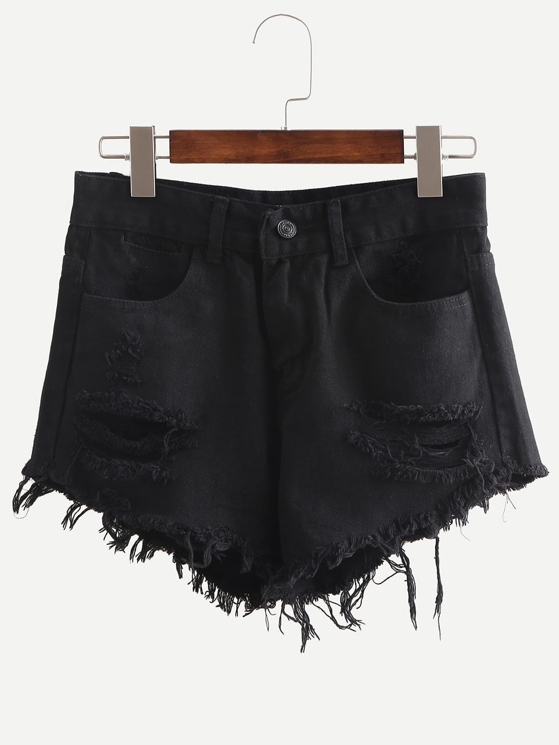 Ripped Raw Hem Denim Shorts автокресло concord concord автокресло air safe graphite grey