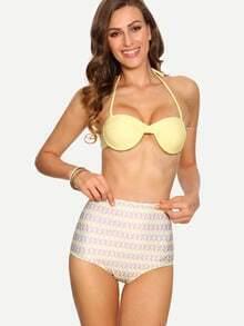 Multicolor High-Waist Mix & Match Bikini Set