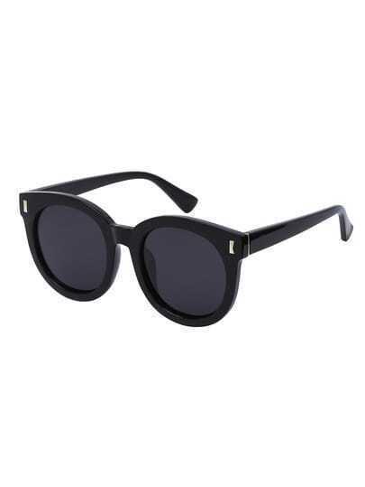 Occhiali Da Sole Rotondi Oversized - Nero