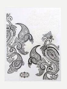 Black Lace Nail Sticker