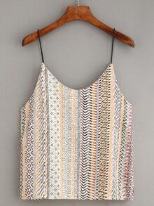 Multicolor Tribal Print Cami Top
