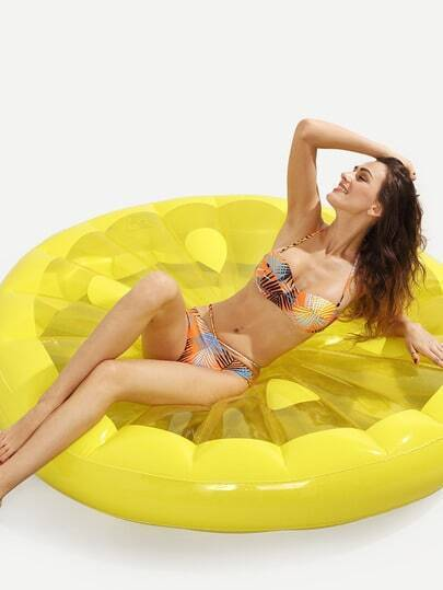 Lemon Slice Pool Float - Yellow