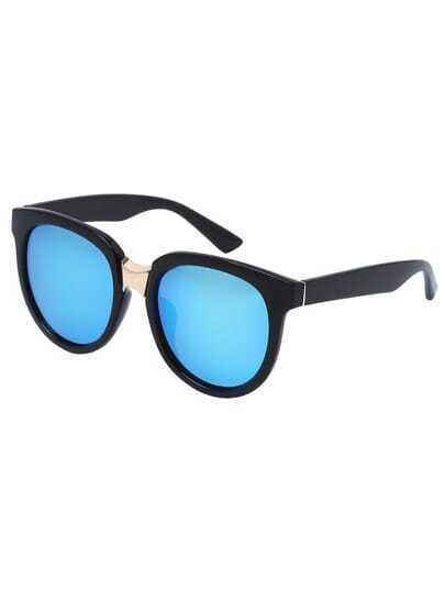 Blue Lenses Oversized Round Sunglasses