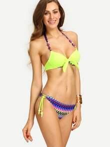 Multicolor Chevron Print Mix & Match Bikini Set