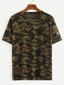 Olive Green Camouflage T-shirt