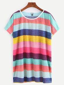 Colorful Wide Stripe T-shirt