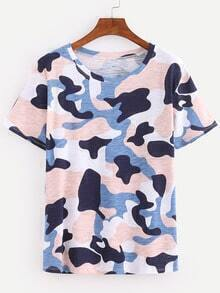 Blue Camouflage T-shirt