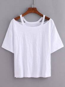 Cutout Strap Loose-Fit T-shirt
