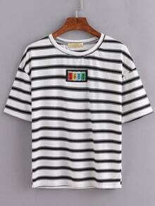 Striped Patch T-Shirt