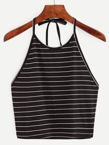 Halter Striped Cami Top