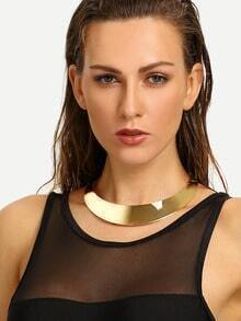 Gold Metallic Wide Circle Necklace