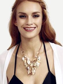 Gold Chain Marine Elements Statement Necklace