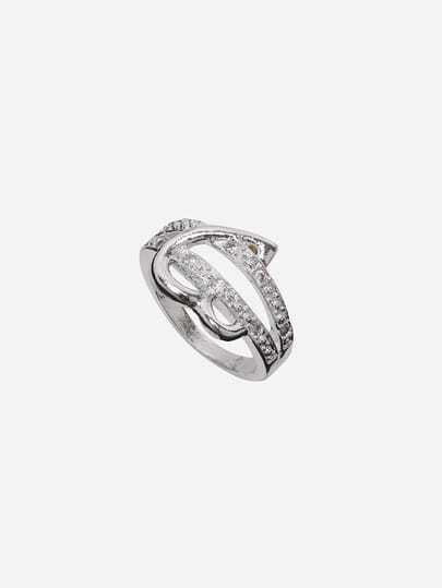 Silver Plated Heart Shaped Ring