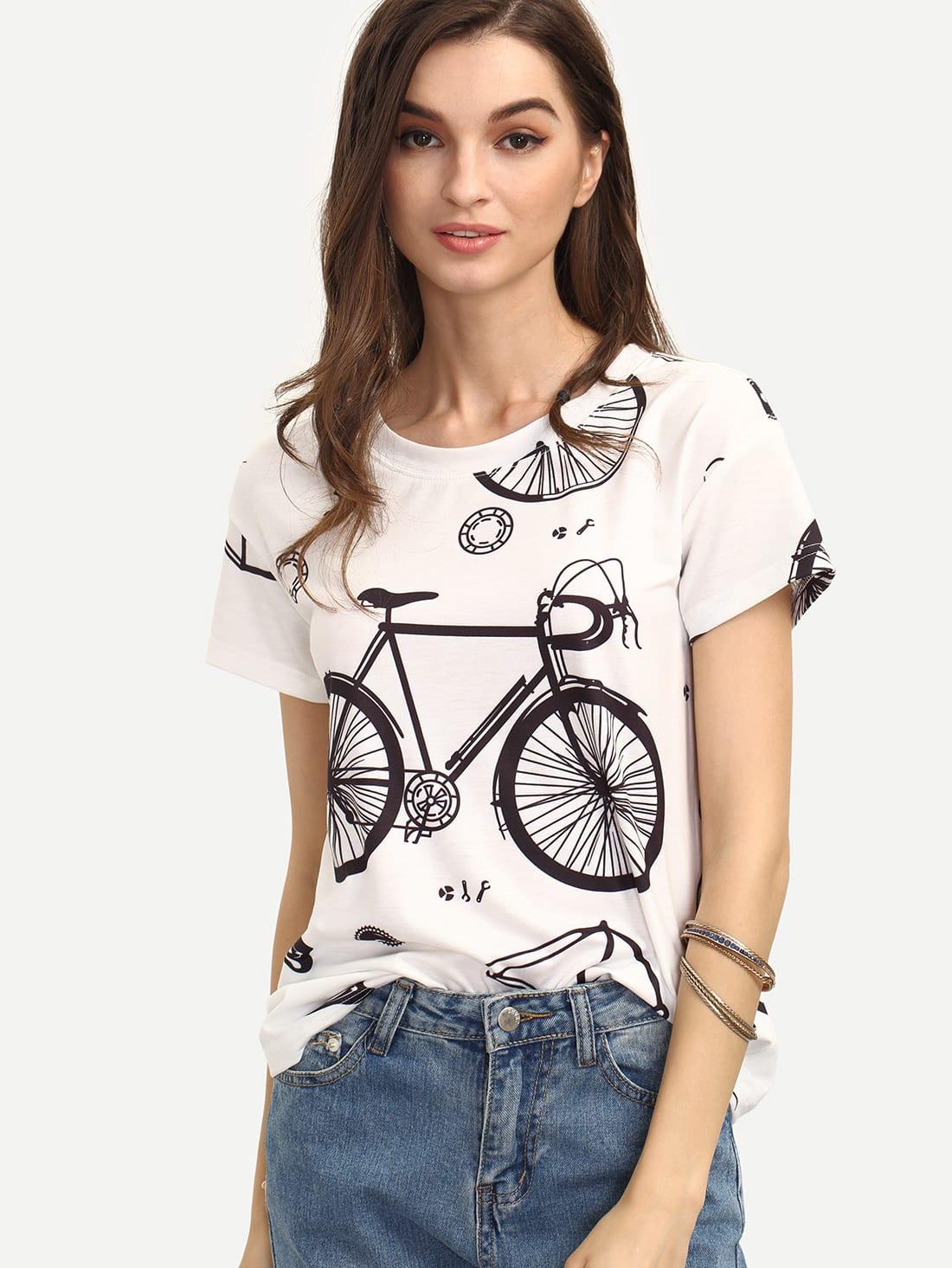 Фото Bike Print T-shirt. Купить с доставкой