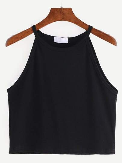 High Neck Crop Cami Top