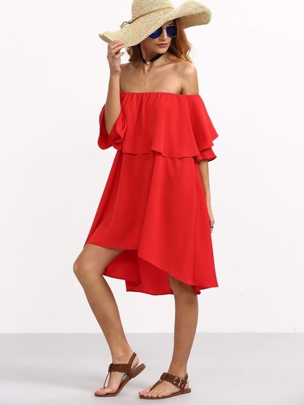 Robe rouge shein