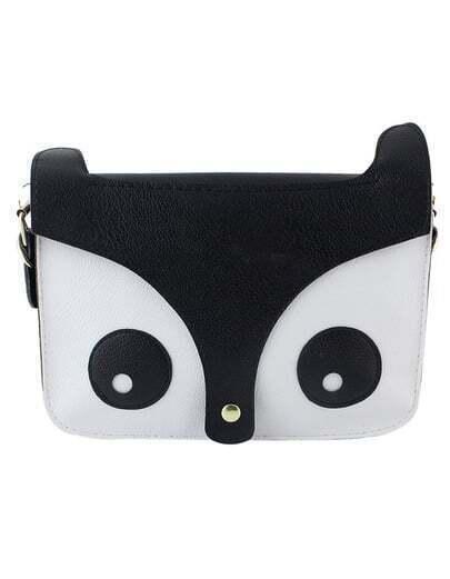Black Cute Animal Head Pu Shoulder Bag